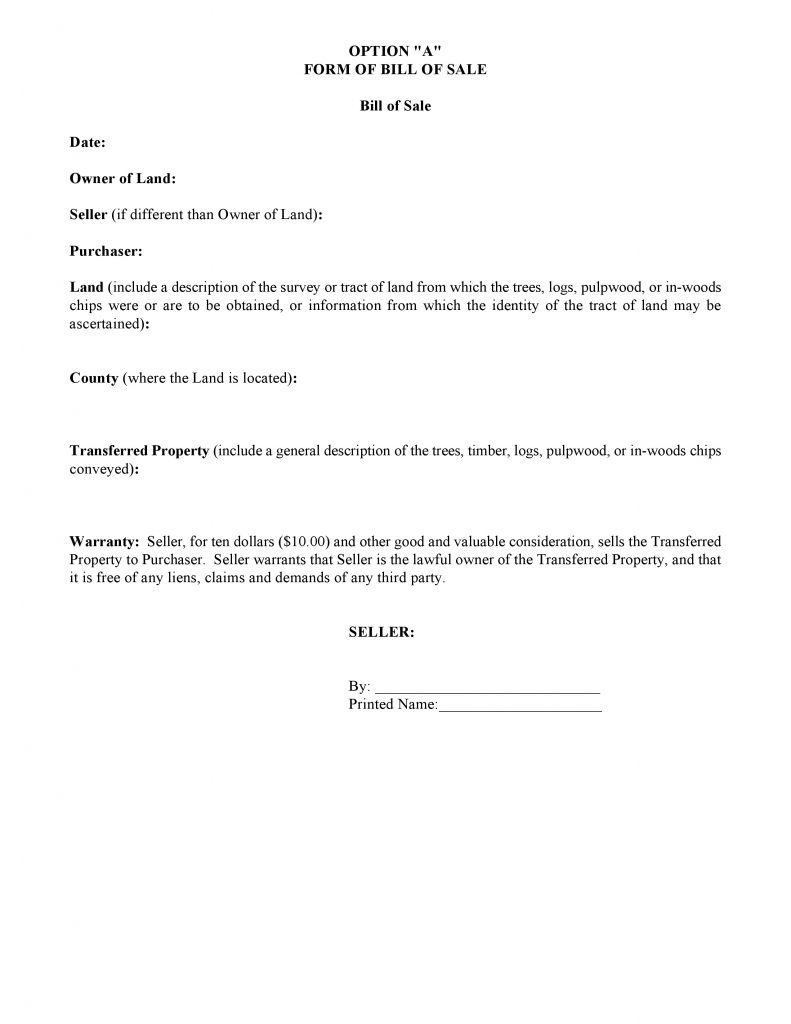 Doc8451962 Bill of Sale Land Bill Of Sale Form Car Pdf 46 – Bill of Sale for Land