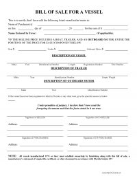 Florida Boat Bill of Sale