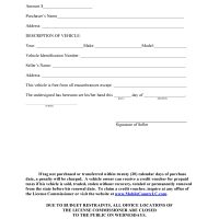 Mobile County, Alabama Bill of Sale Form