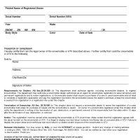 Alaska Snowmachine or ATV Bill of Sale Form