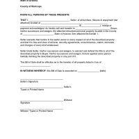 Arizona Personal Property Bill of Sale Form
