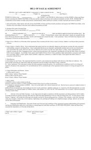 California Horse Bill of Sale & Agreement Template